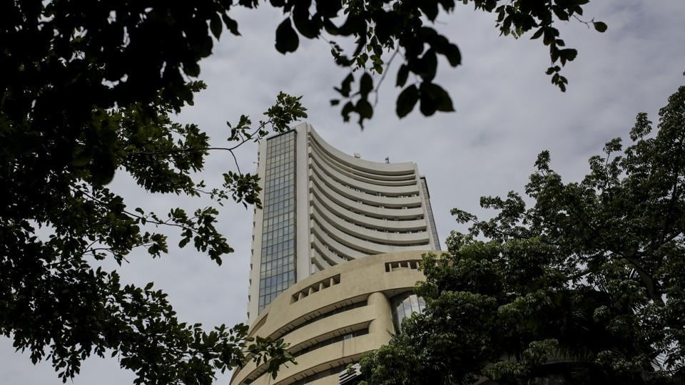 The Bombay Stock Exchange (BSE) building stands in Mumbai.