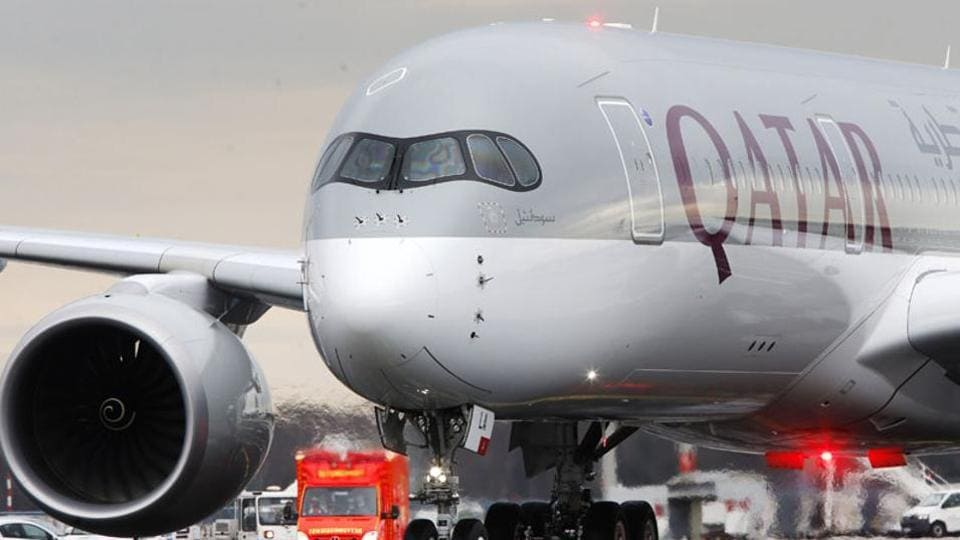 The new Airbus A350 of Qatar Airways