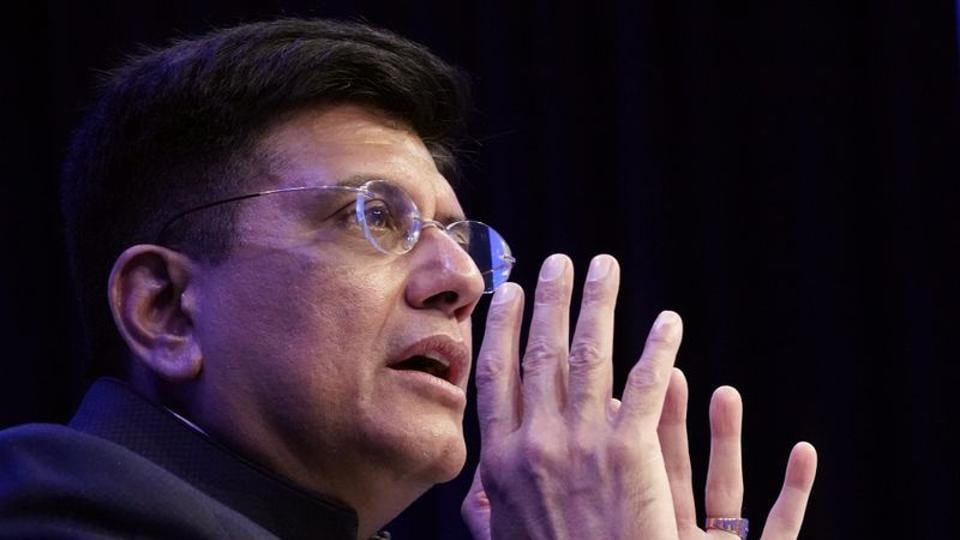 Piyush Goyal attends a session at the 50th World Economic Forum annual meeting in Davos, Switzerland, in January.