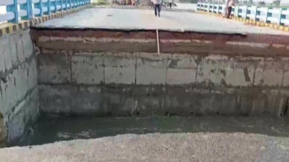 The Opposition parties in Bihar attacked the state government after photos of the damaged structure surfaced.