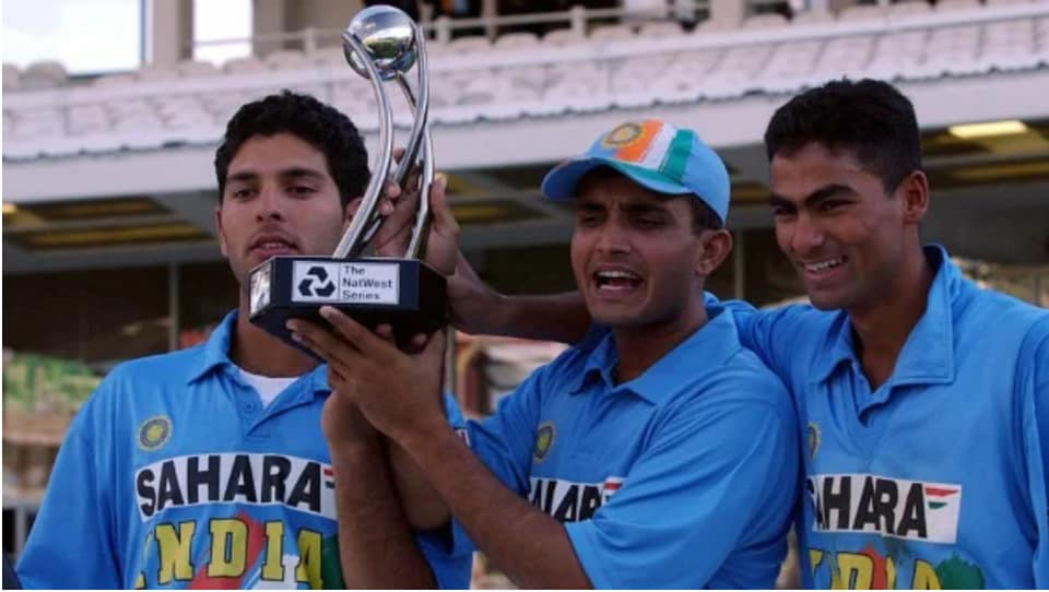 File image of Sourav Ganguly with Yuvraj Singh and Mohammad Kaif.
