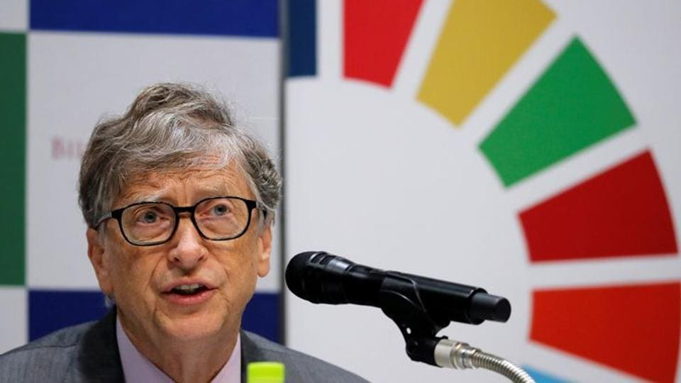 Bill Gates, co-chair of the Bill & Melinda Gates Foundation, attends a news conference.