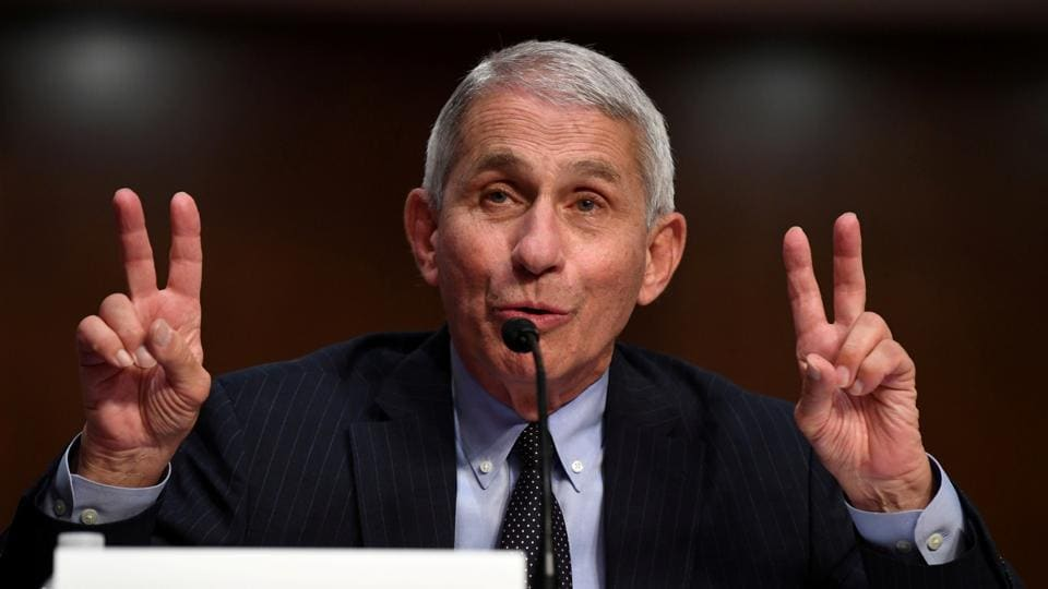 Dr Anthony Fauci, director of the National Institute for Allergy and Infectious Diseases, during a Senate Health, Education, Labor and Pensions (HELP) Committee hearing on Capitol Hill in Washington, US on June 30, 2020.