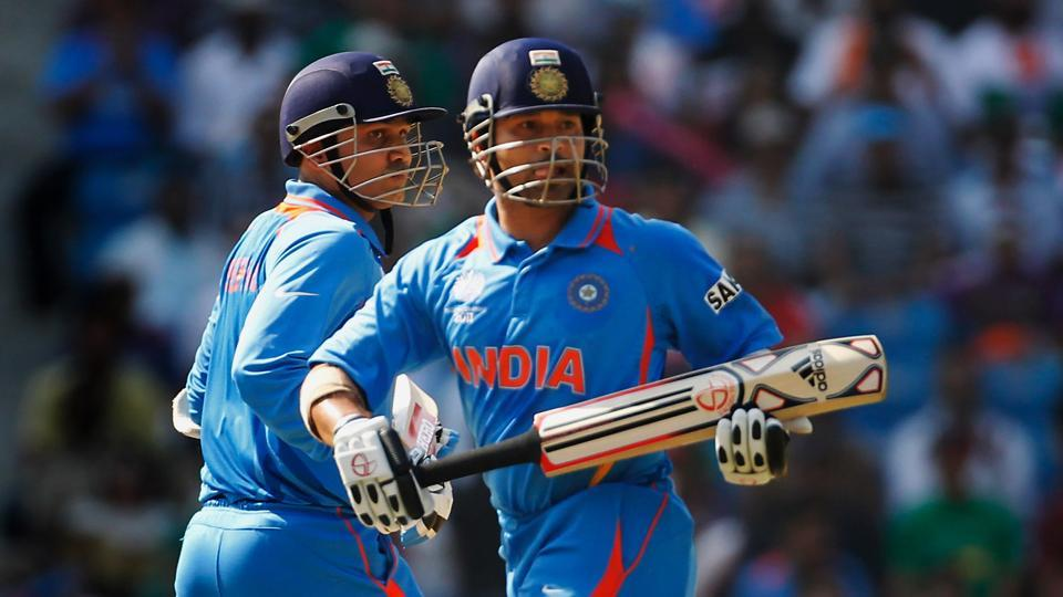 Between 2001 and 2007, Sachin Tendulkar batted at No.4 19 times to allow Virender Sehwag to open the innings.