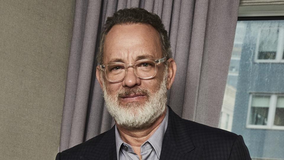 Tom Hanks posing for a portrait in New York.
