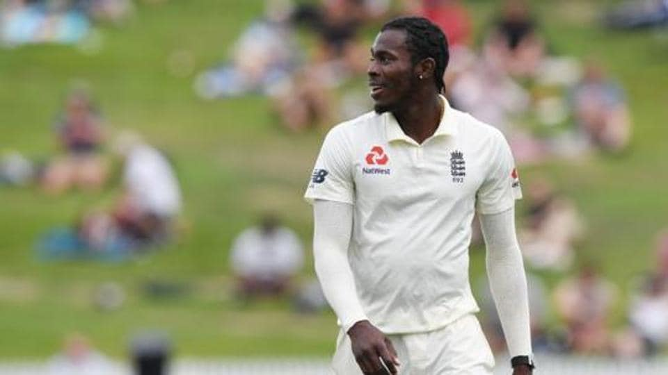 England's Jofra Archer during the match.