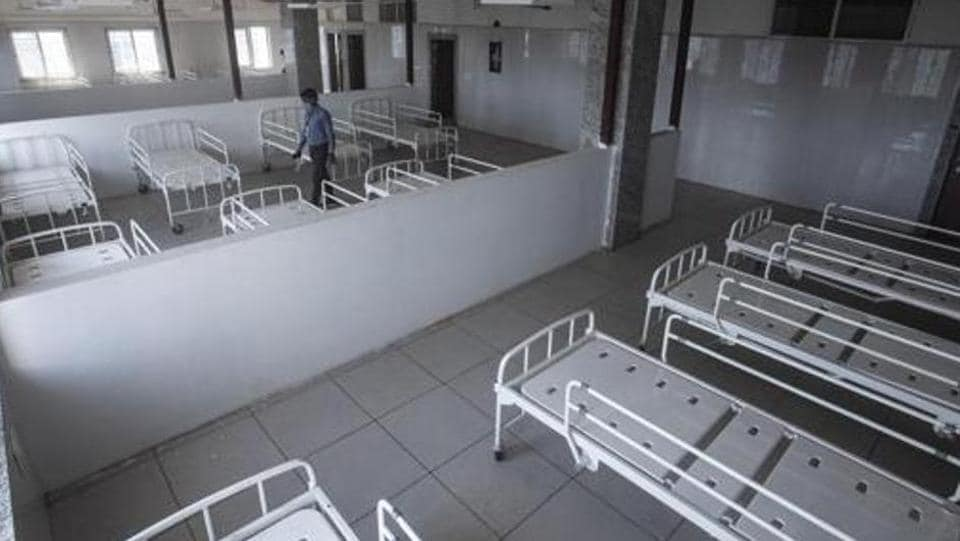 Quarantine ward for Covid-19 patients at Sassoon general hospital.