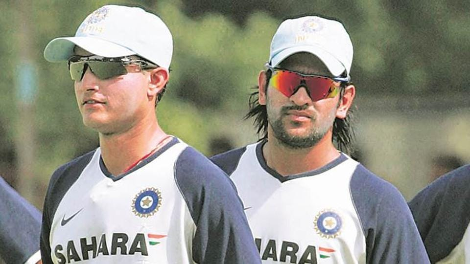 File image of Sourav Ganguly and MSDhoni.