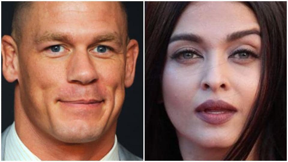 John Cena's post on Aishwarya Rai came without any caption.