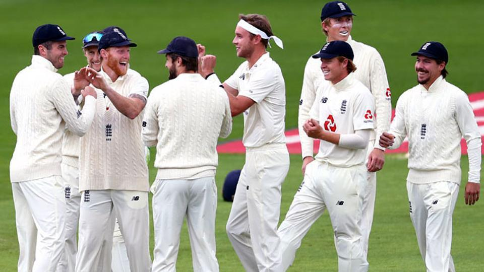 England beat West Indies by 113 runs in the second Test in Manchester to level the series 1-1. Stuart Broad starred with the ball and grabbed a match-haul of 6/108. (Getty Images)