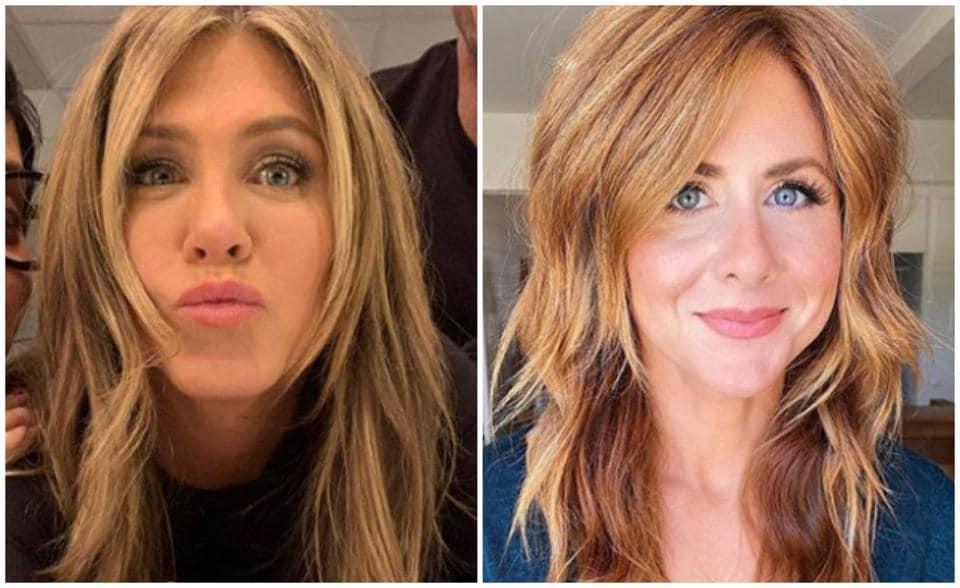 Jennifer Aniston's lookalike is a blogger named Caitlin.