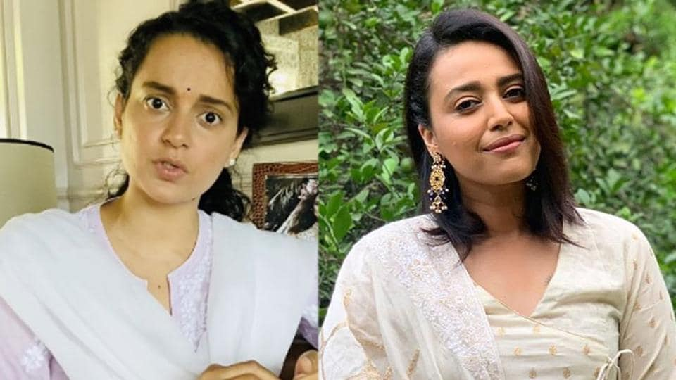 Swara Bhasker and Kangana Ranaut are lashing out at each other on Twitter.
