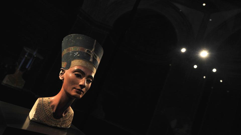 (FILES) In this file photo taken on February 07, 2011 the bust of Queen Nefertiti of Egypt is on display in Berlin's
