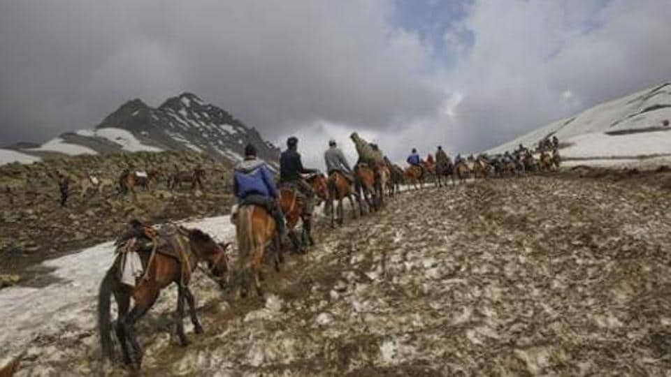 Amarath yatra is one of the holiest pilgrimages of the Hindus.