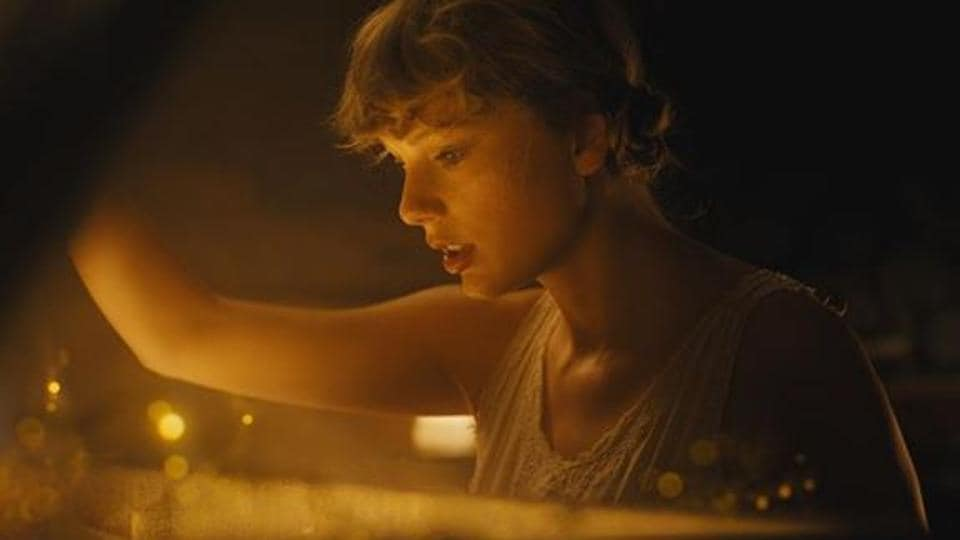 Taylor Swift in a still from her new music video.