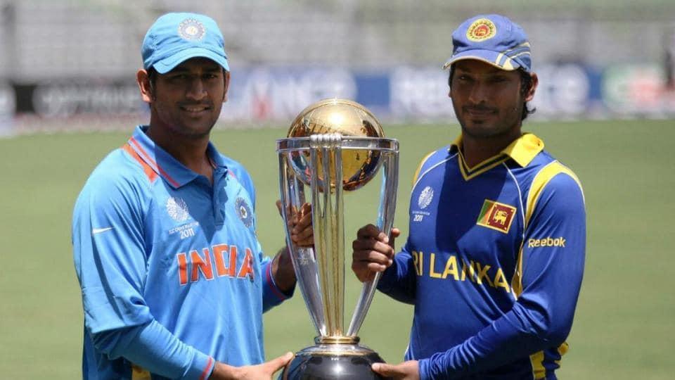 File image of MSDhoni and Kumar Sangakkara during 2011 World Cup final.