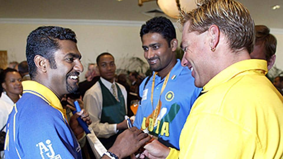 File image of Anil Kumble with Muttiah Muralitharan and Shane Warne.