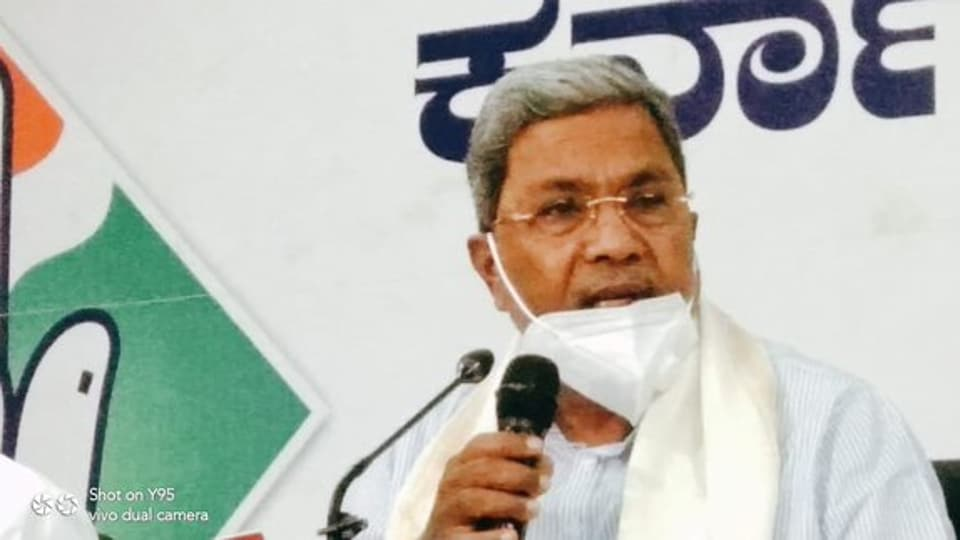Former Krnataka Chief Minister Siddaramaiah has accused the government of  misappropriating Rs 2,000 cr  during the Covid-19 pandemic.