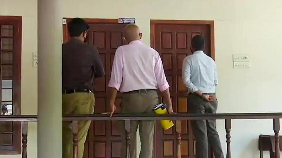 A three-member team of Customs officials at the residence of M Sivasankar (former principal secretary to the Chief Minister and IT secretary) to serve him a notice to appear for questioning in connection with the ongoing probe in the gold smuggling case earlier this month.
