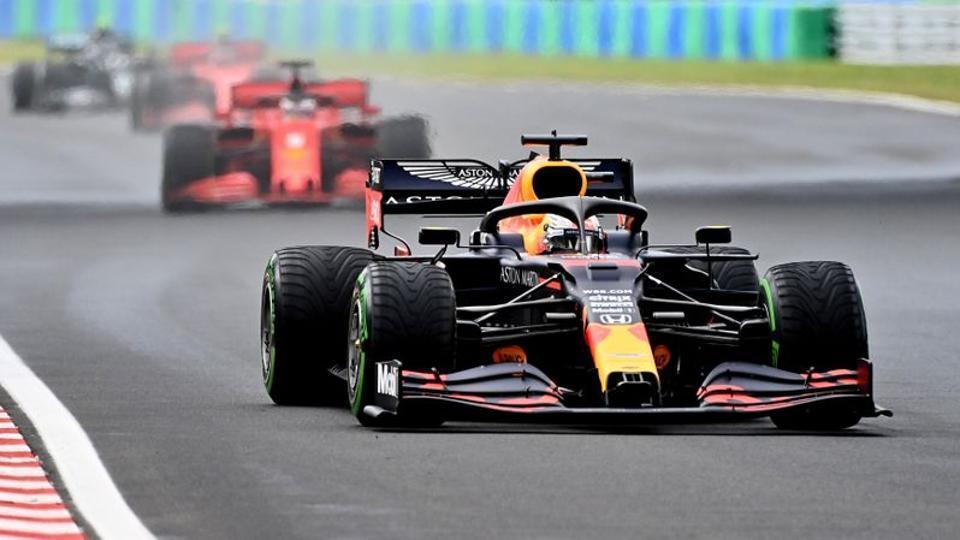 Formula One F1 - Hungarian Grand Prix - Hungaroring, Budapest, Hungary - July 19, 2020 Red Bull's Max Verstappen in action during the race Joe Klamar/Pool via REUTERS