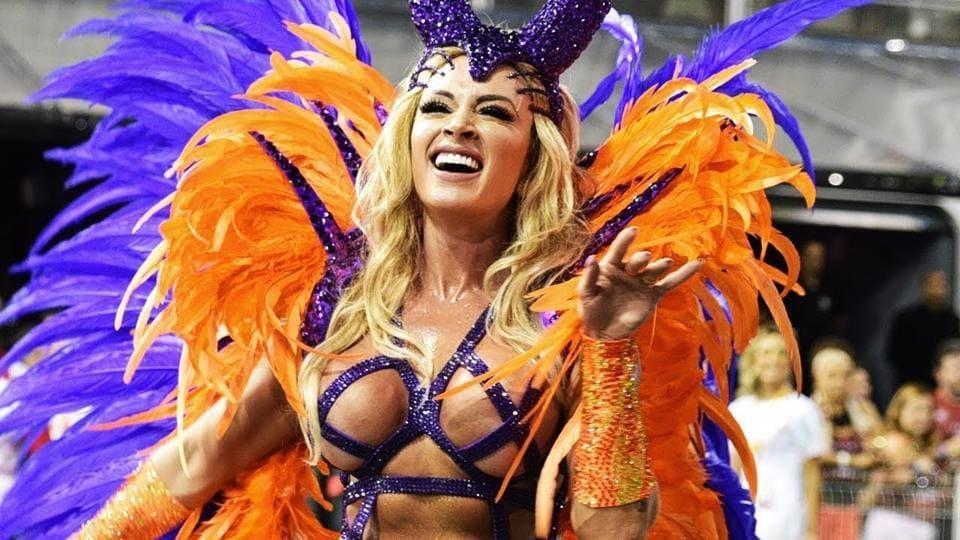 Representational image of a samba dancer during the 2018 Sao Paulo carnival