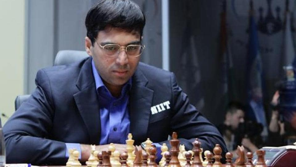 World chess champion Viswanathan Anand of India at the FIDE World Chess Championship in Moscow, Russia, Thursday, May 31, 2012.