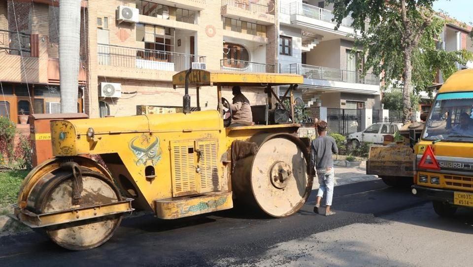 As many as 105 major and minor roads are to be repaired in Chandigarh.