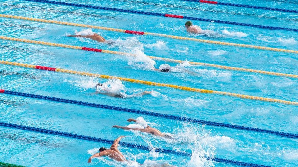 Swimming works out the whole body and cardiovascular system.