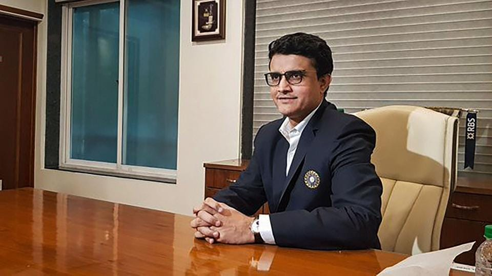 Former Indian cricket captain Saurav Ganguly takes charge as BCCI's new President, at BCCI headquarters in Mumbai.