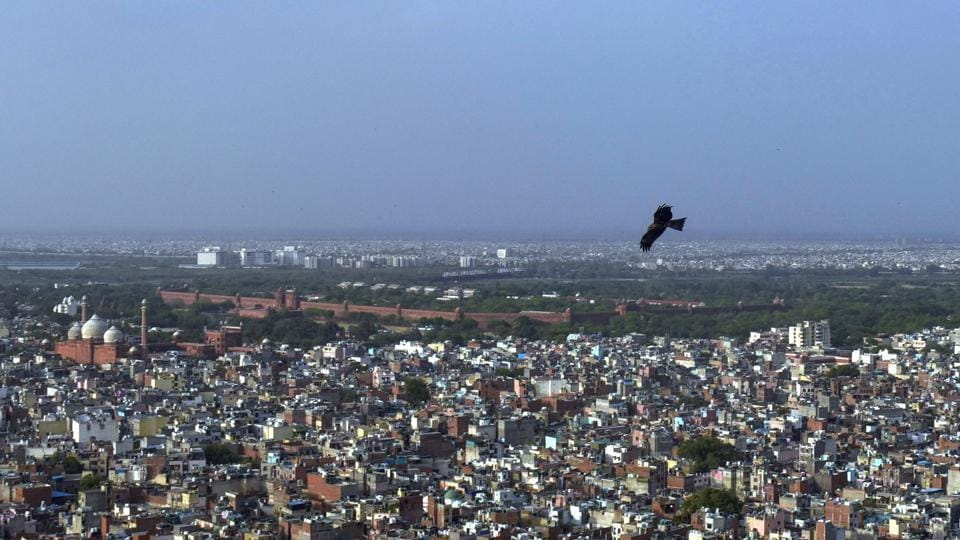 A view of Old City during ongoing Covid-19 lockdown, in New Delhi.