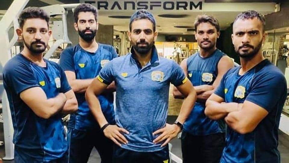 Members of the Punjab cricket team.