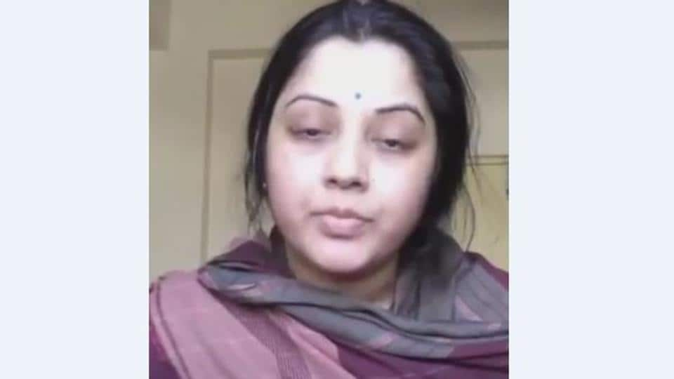 Vijaya Lakshmi shared a video with her followers before taking the drastic step.