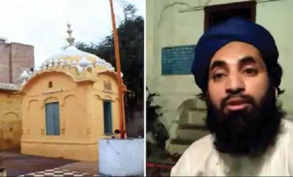 A video grab of the clip showing Suhail Butt Attari, a resident of Lahore,  conspiring to provoke people against Gurdwara Taru Singh and trying to occupy the adjoining plot in Landa Bazaar, Lahore. The Evacuee Trust Property Board has demanded strict disciplinary action against him and his associates.