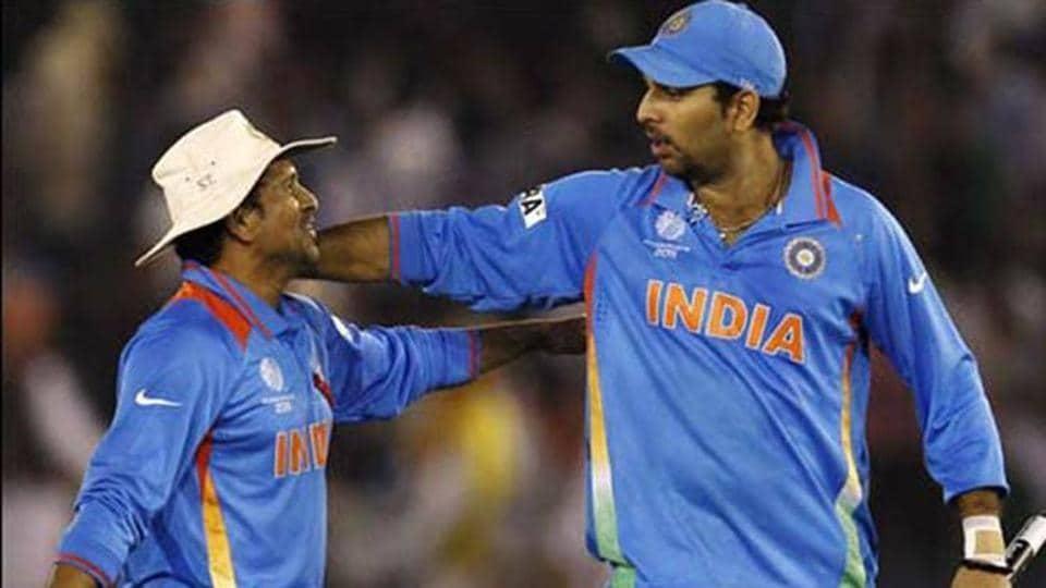File image of Sachin Tendulkar with Yuvraj Singh.