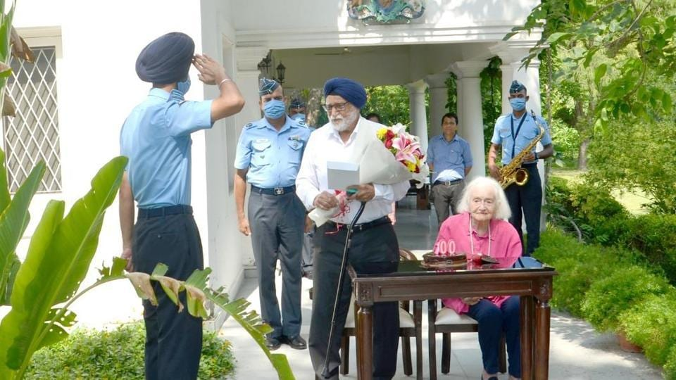 IAF extended best wishes to Squadron Leader  Dalip Singh Majithia (retd) on his 100th birthday on Monday.