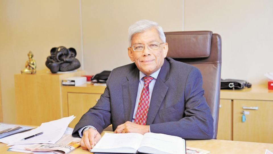Deepak Parekh Chairman of Housing Development Finance Corporation in Mumbai.