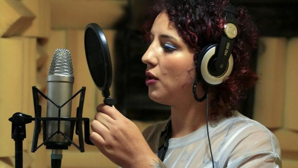 Moroccan rapper Houda Abouz, 24, known by her stage name