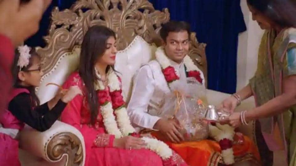 Akshay at his 'roka' ceremony on Indian Matchmaking.