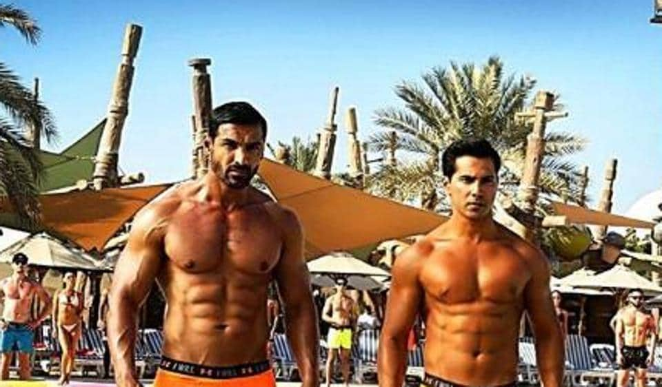 John Abraham and Varun Dhawan in as till from Dishoom.
