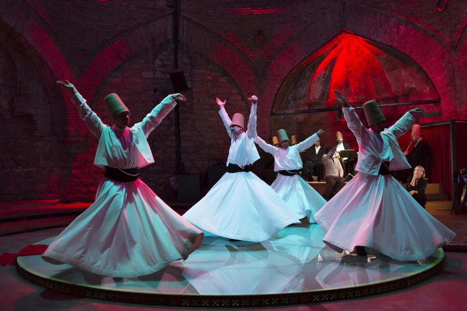 The Semazen or whirling dervishes: The Sufi mystical sect was inspired by Rumi and formed in 1273 after his death.