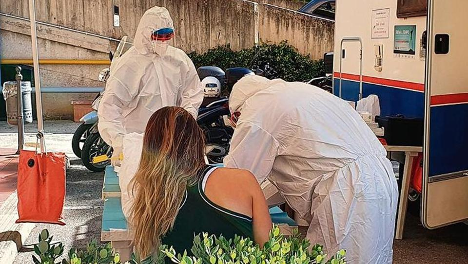 A player gets tested for Covid-19 ahead of next week's WTA Palermo Ladies Open