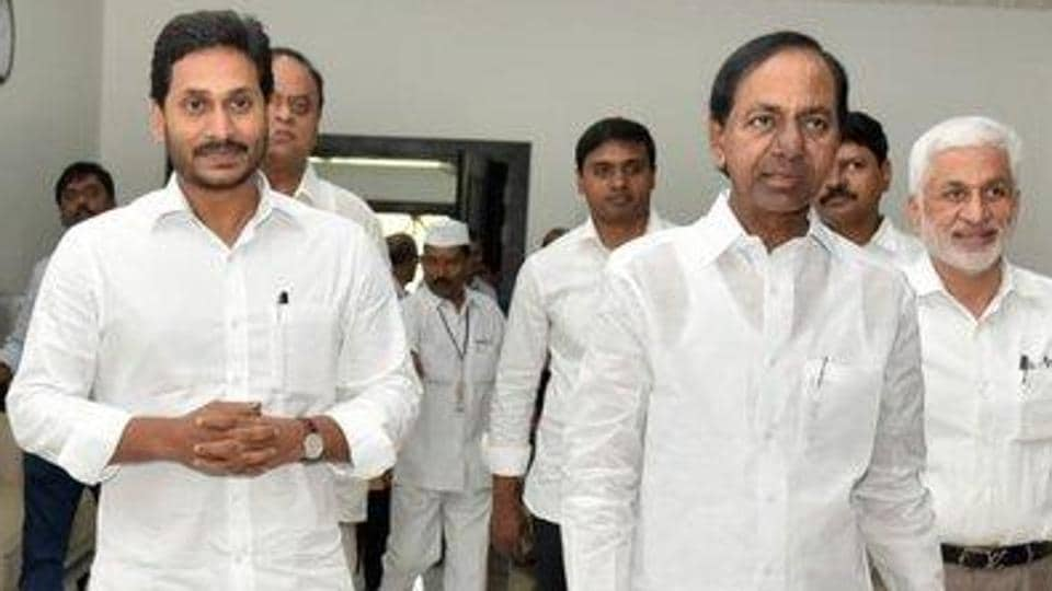 Jagan Reddy and KCR will be attending the meeting through video conference to put forth their arguments on the projects taken up by their respective states. (File photo)
