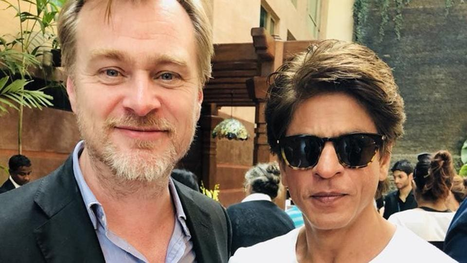 Christopher Nolan poses with Shah Rukh Khan during his India visit.