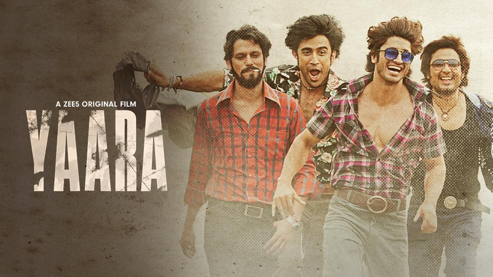 Vidyut Jammwal, Amit Sadh, Vijay Varma and Kenny Basumatary  in film poster from Yaara
