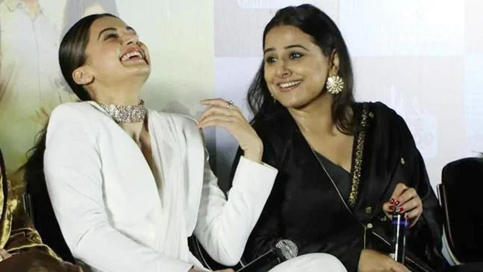 Taapsee Pannu  and Vidya Balan have worked together in Mission Mangal.