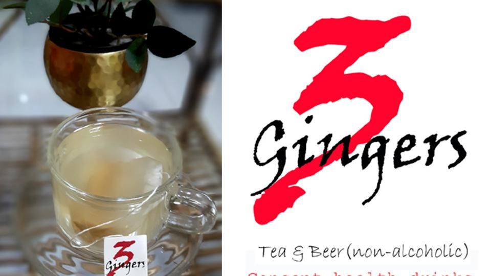 A teabag of 3Gingers tea may be brewed in boiled water for five or more minutes and the infusion served.