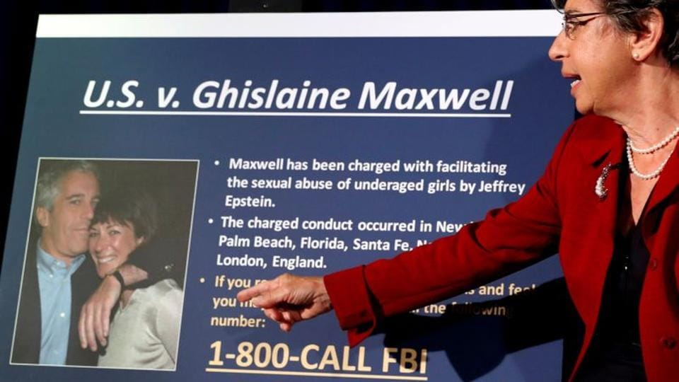 Audrey Strauss, acting United States Attorney for the Southern District of New York, speaks at a news conference announcing charges against Ghislaine Maxwell for her role in the sexual exploitation and abuse of minor girls by Jeffrey Epstein.