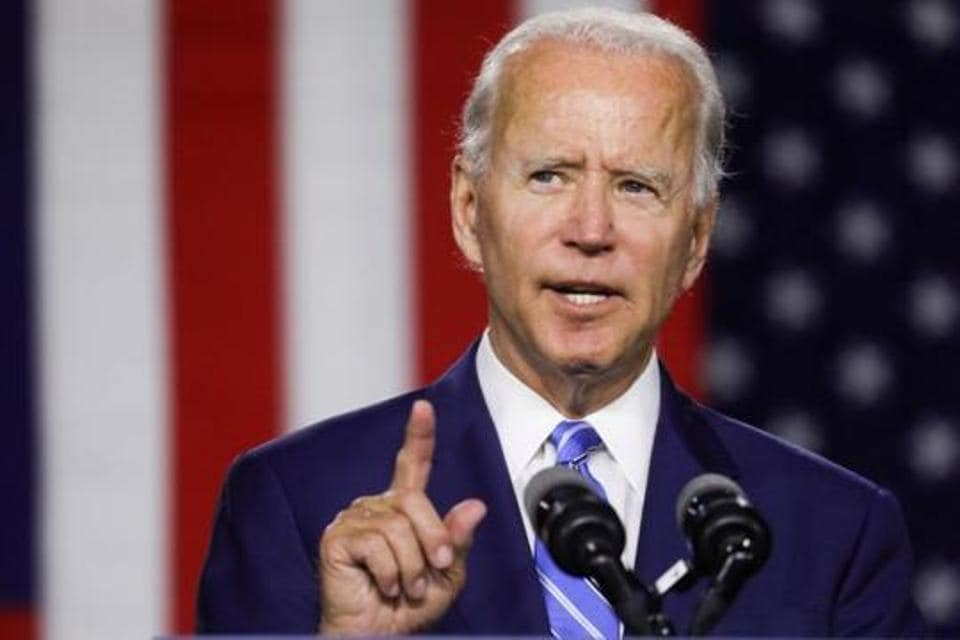 Democratic US presidential candidate and former vice-president Joe Biden in Wilmington, Delaware, US, July 14, 2020