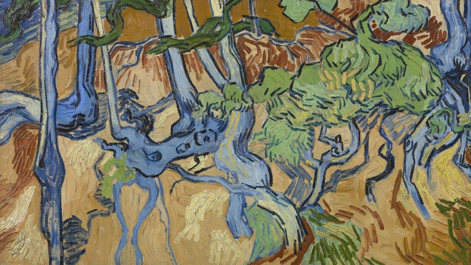 This image made available by the Van Gogh Museum shows Van Gogh's last painting: Tree Roots. Auvers-sur-Oise, 27 July 1890.