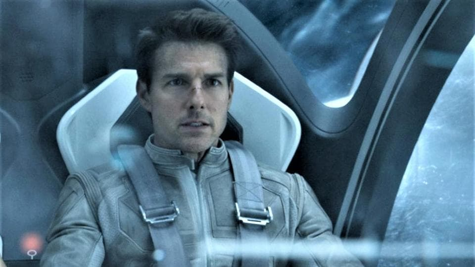 Tom Cruise in a still from Oblivion.
